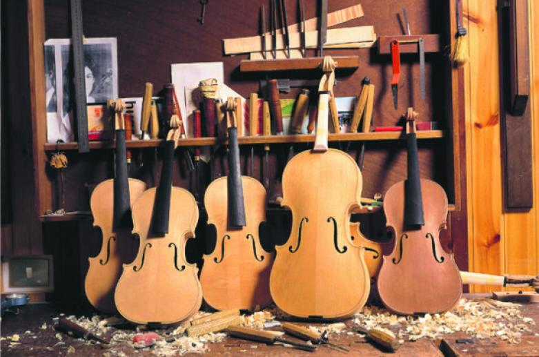 The luthier workshops in Cremona