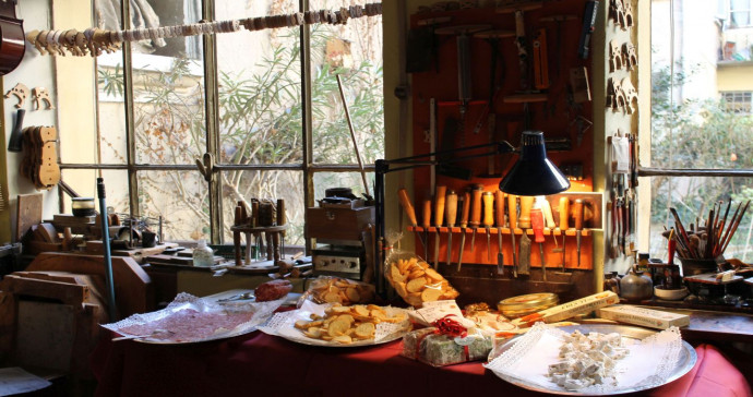 Degustando in Bottega at Savini in Milan