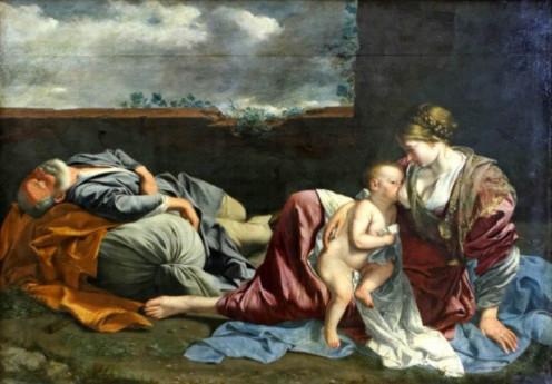 Gentileschi: Rest on the Flight into Egypt