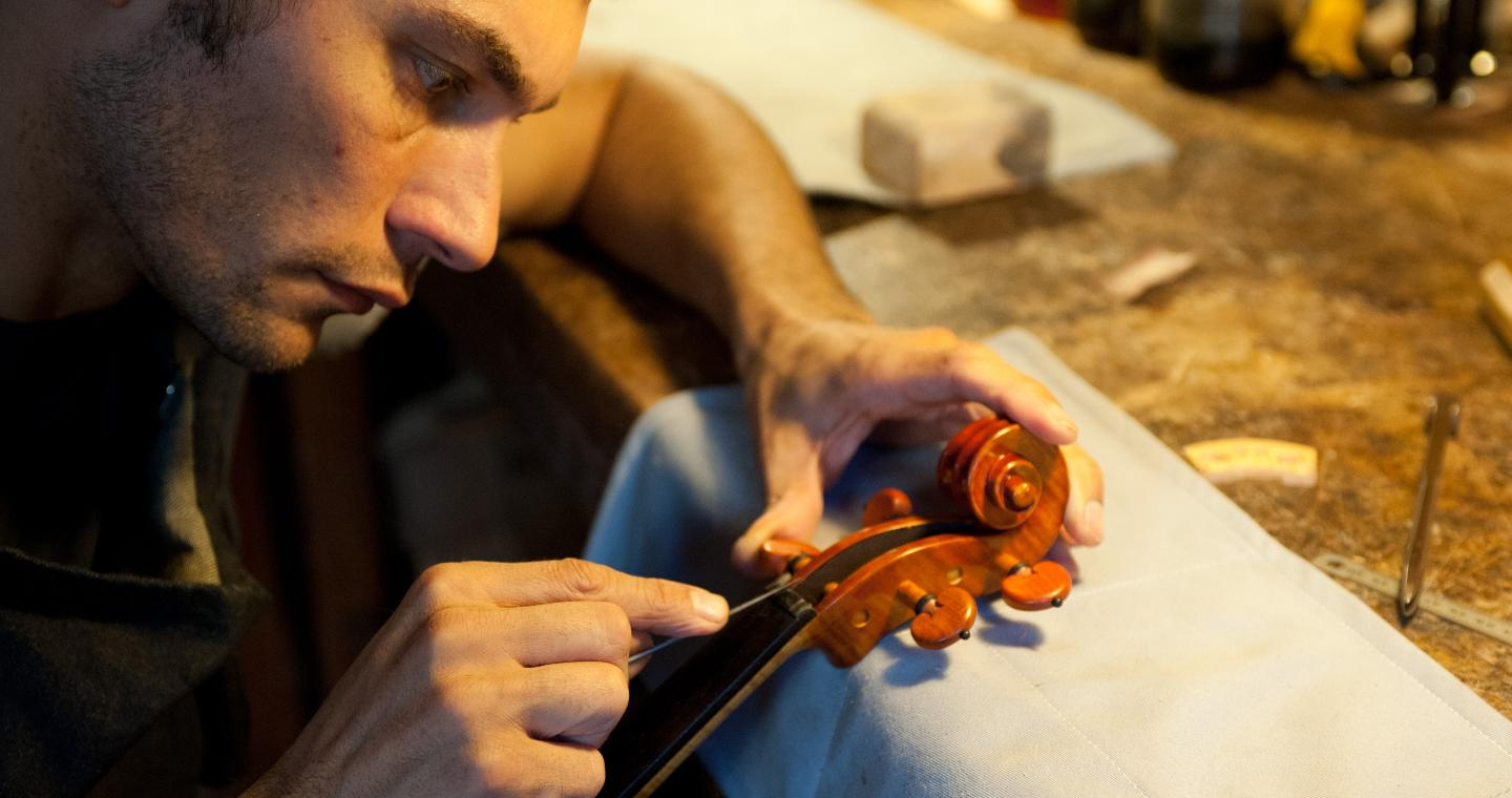 Luthier at work, Cremona.