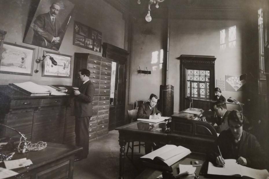 Gli uffici dell'epoca